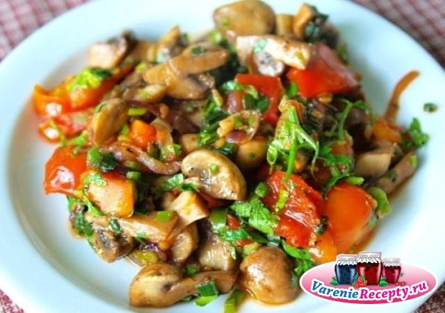 найти рецепты салатов с грибами