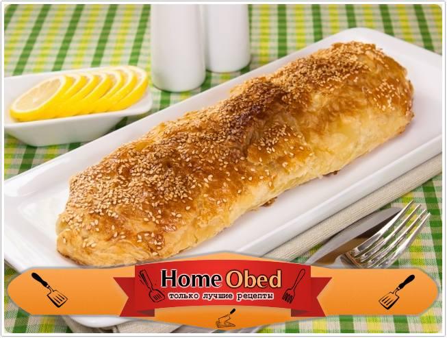 Рыба в слоеном тесте в духовке с фото пошагово