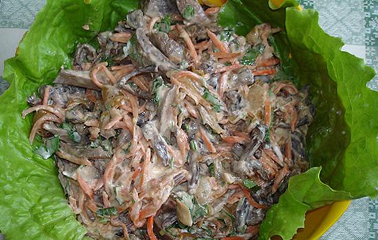 Салат с куриной печенью и соленым огурцом рецепт с