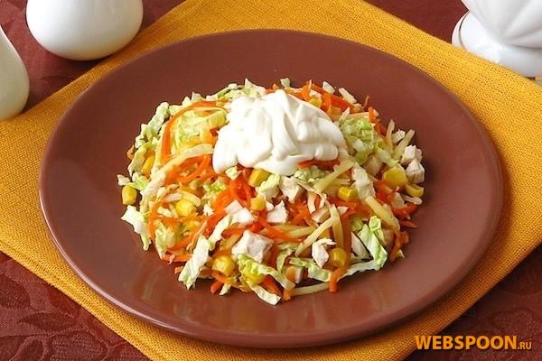 салат из капусты с морковью по корейски рецепт