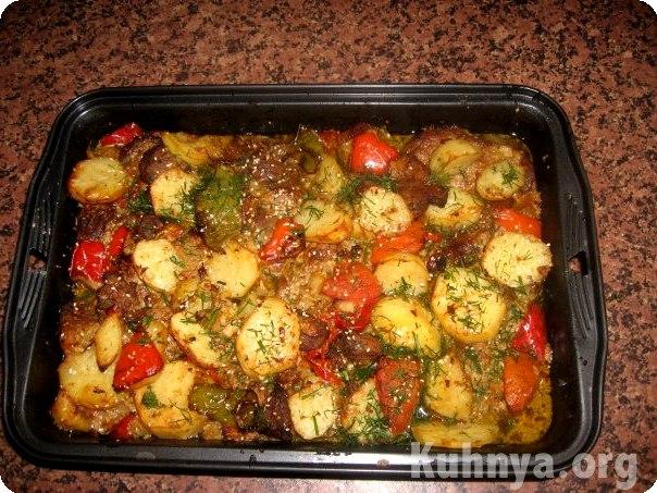 свинина под овощами в духовке рецепты