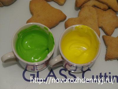 как приготовить глазурь для печенья цветную