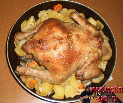 Курник пирог в духовке рецепт