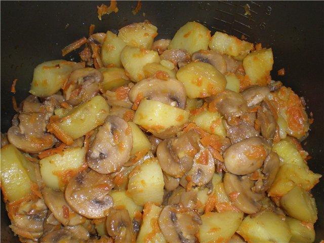 картошка запечённая с грибами в духовке рецепт с фото