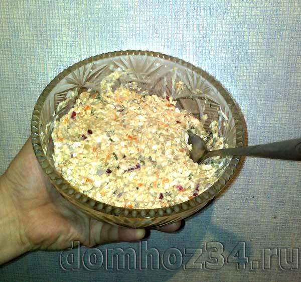 Рецепт салата с сардиной в масле