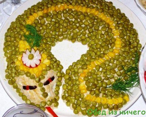 салат змея фото и рецепт с фото