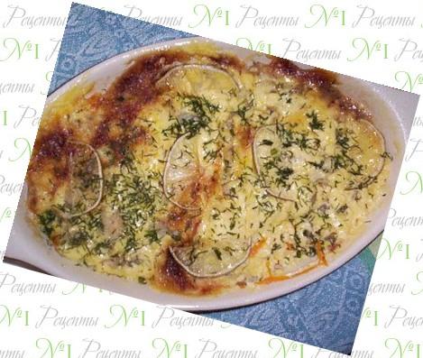 рецепт морского языка в духовке с овощами