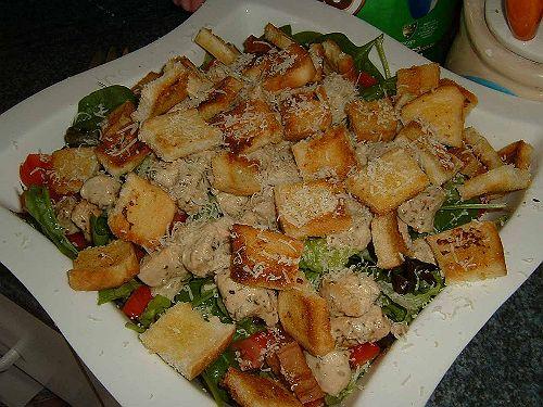 цезарь с курицей копченой рецепт в домашних условиЯх #11