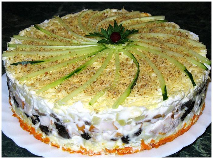 самые праздничные рецепты салатов с фото