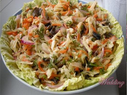 рецепты легких салатов с маслом с фото