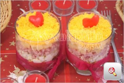 простые рецепты салатов в креманках с фото