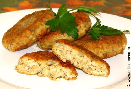 Котлеты из риса с рыбными консервами - рецепт Блюда из рыбы и