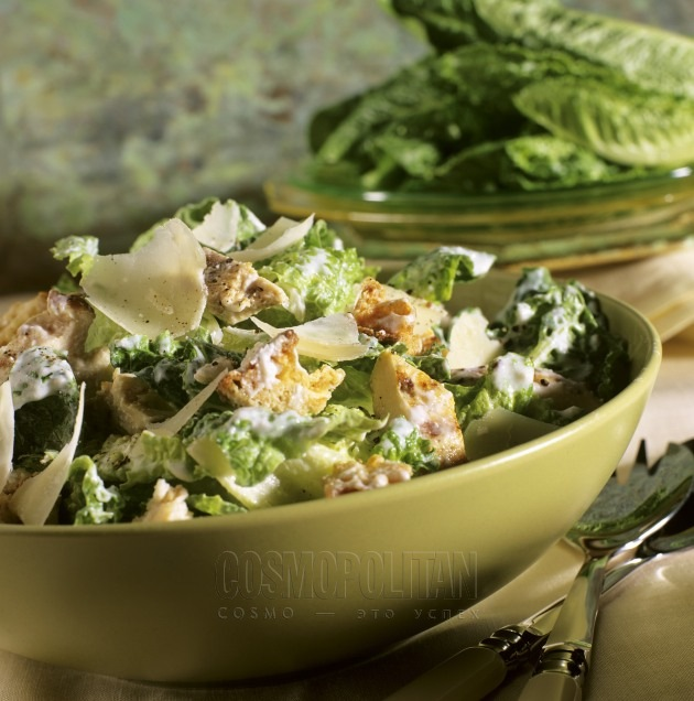 Салат цезарь с курицей рецепт с фото