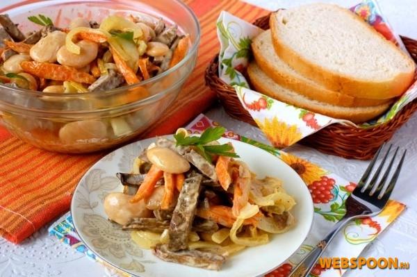 печень говяжья морковь салат рецепты