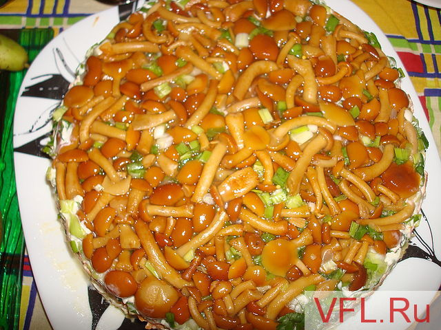 рецепт салата грибная поляна с опятами рецепт и фото