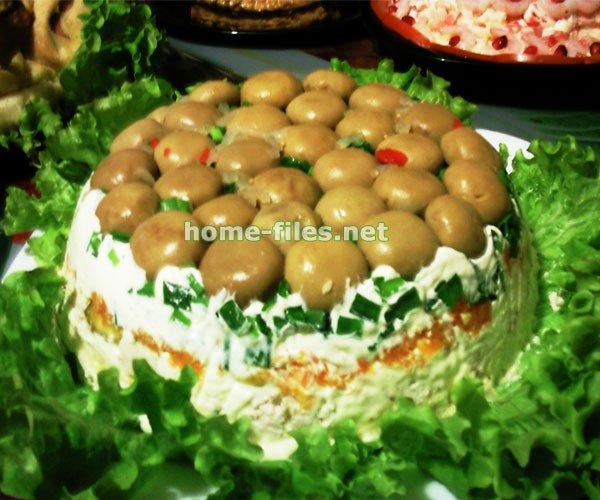 салат желудь рецепт и фото