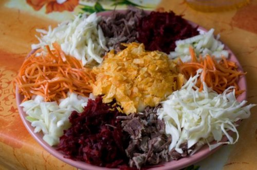 Салат с чипсами рецепты