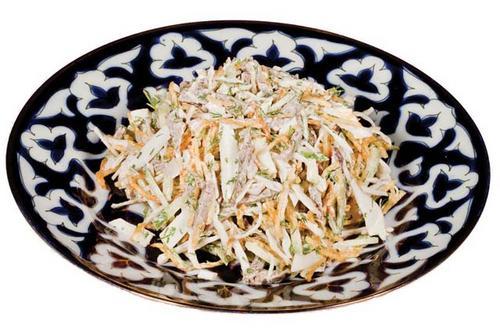 низкокалорийные рецепты салатов из простых продуктов