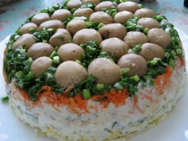 вкусные салаты не слоями рецепты с фото