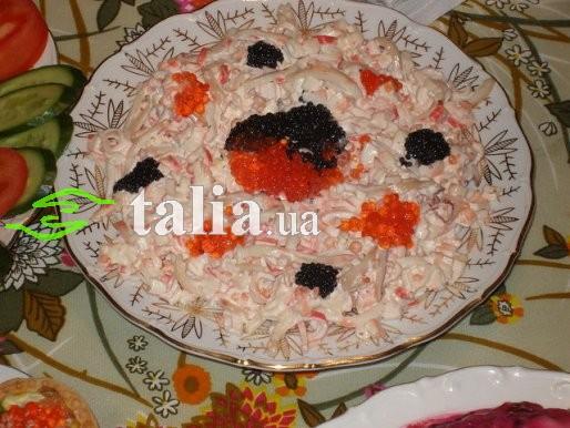 кальмары крабовые палочки салат