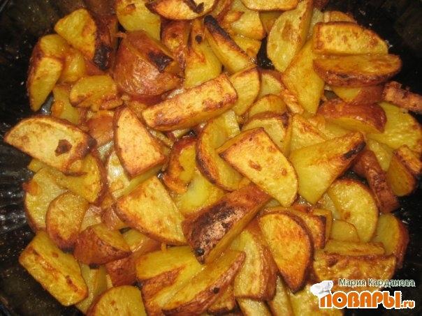рецепт картошки по деревенски с мясом в мультиварке