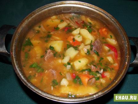 тушеная картошка с фаршем рецепт с фото пошагово