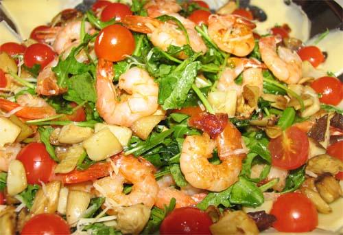 рецепты салатов с креветками и оливками