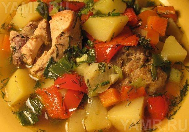 Рагу с мясом и кабачком рецепт с фото