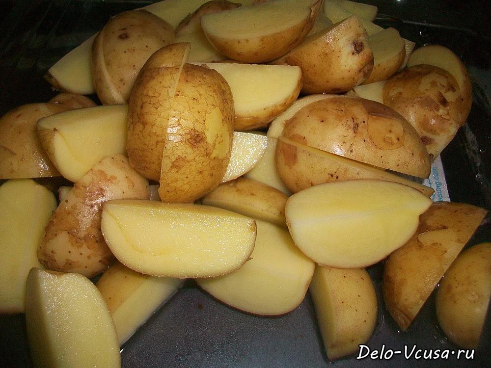 картошка по деревенски в духовке рецепт в рукаве с