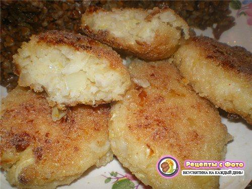 Котлеты в духовке с манкой рецепт пошагово