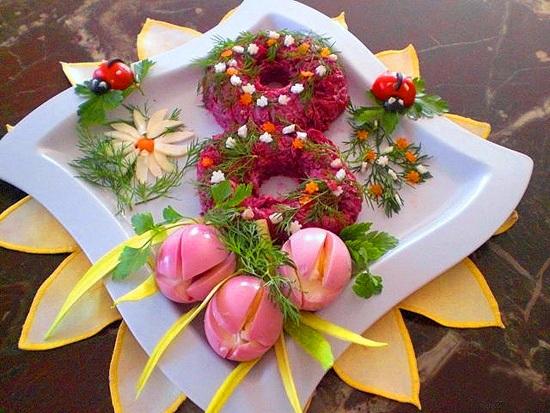рецепт салатов с фото с 8 мартом