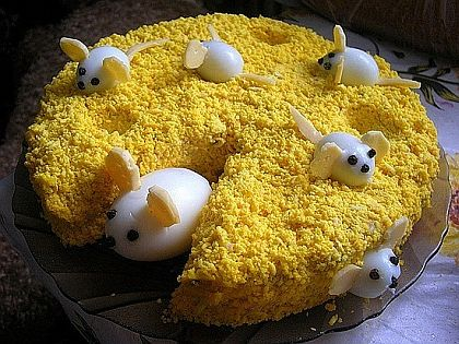 салаты рецепты мимоза с мышками