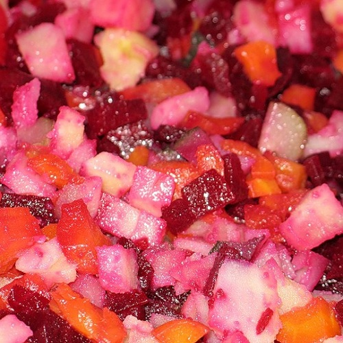 Салат с красной капустой и кукурузой рецепт 17