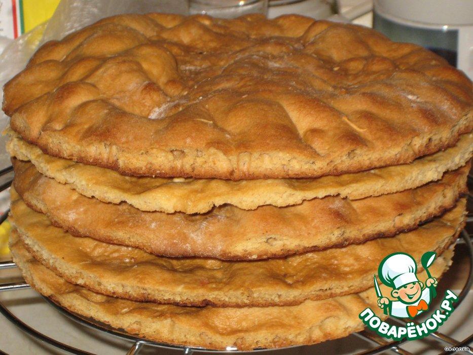 вкусные коржи для торта рецепт с фото
