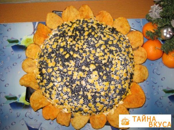 салаты из черной икрой с фото