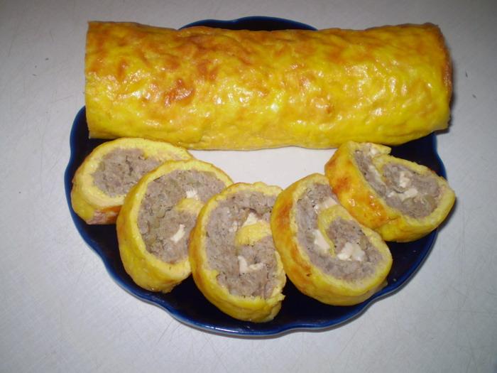сырный рулет с фаршем по шагово рецепт
