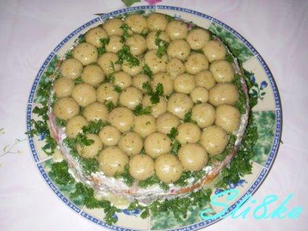 салат грибная поляна свежим огурцом рецепт
