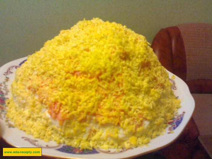 Салат крабовый слоями с фото