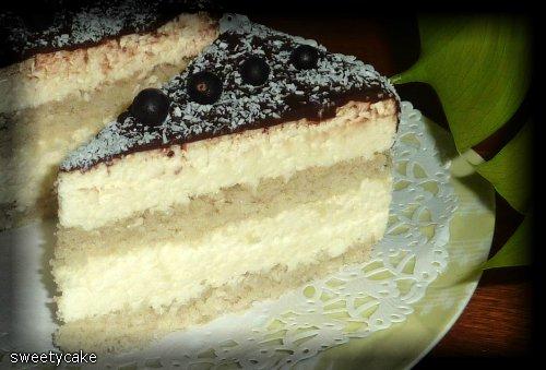 Рецепт бисквитного торта с сыром маскарпоне