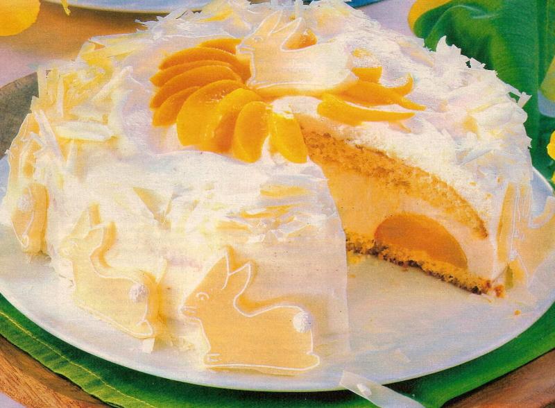 рецепты персиковый торт