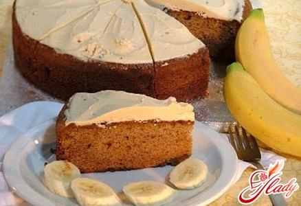 пирог с кефиром и бананом рецепты с фото