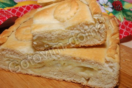 Рецепт Пирог с картофелем и луком.