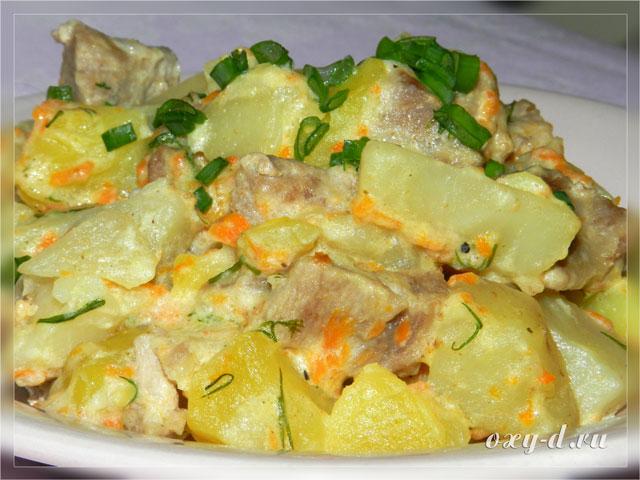 капуста тушеная с картошкой в кастрюле рецепт с фото