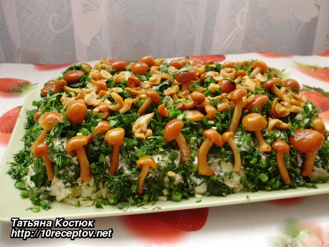 Рецепты салатов без яиц с фото простые и вкусные