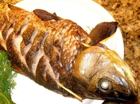 Рыба запеченная в духовке, фото