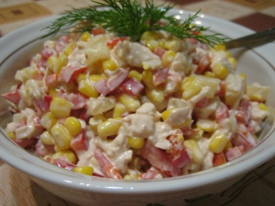 Салат из капусты и крабовых палочек рецепты с фото
