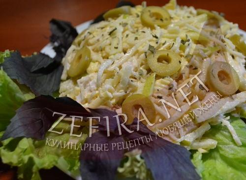 салат из филе курицы рецепты с фото простые