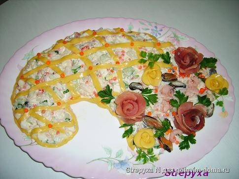 семга и красная икра салат рецепт