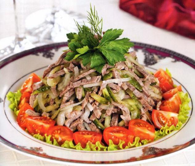 Рецепт вкусный мясной салат