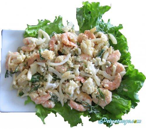 салаты с креветками и рисом рецепты с фото